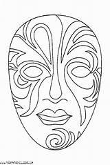 Mascaras Carnaval Venecia Colorear Mask Carnival Mascara Dibujo Carnevale Colorare Colorir Desenhos Coloring Africanas Disegni Parapintarycolorear Masks Dibujos Antifaz Venecianas sketch template