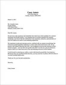Cover Letter For Inexperienced Cover Letter Sles