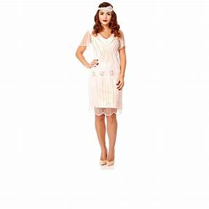 plus size art deco pink blush vintage 20s inspired flapper With robe charleston h m