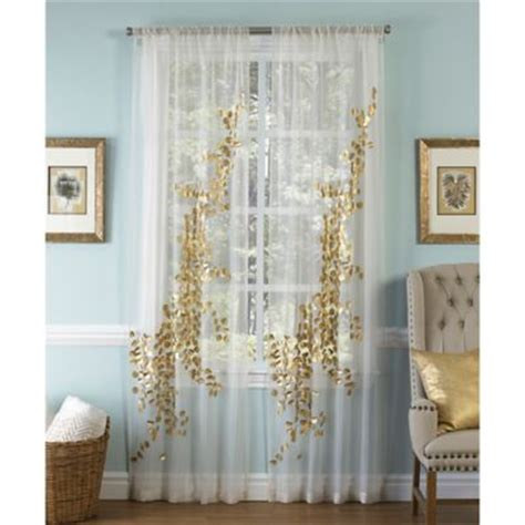 Buy Gold Sheer Curtains From Bed Bath & Beyond