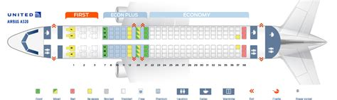 Best Seats Airbus A320 Seat Map Airbus A320 200 United Airlines Best Seats In Plane
