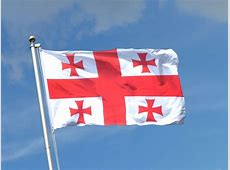 Georgien Fahne kaufen 90 x 150 cm FlaggenPlatzde