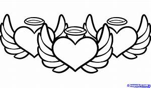 How to Draw Angel Hearts, Step by Step, Tattoos, Pop ...