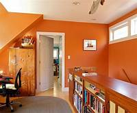 home office colors Hot Trend: 25 Vibrant Home Offices with Bold Orange Brilliance