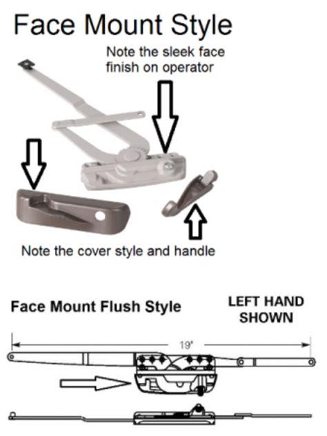 rocco marvin integrity casement window operators contour folding handle truth window hardware