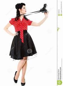 Was Ist Retro Style : pin up girl american style retro woman camera stock photo image 28098342 ~ Markanthonyermac.com Haus und Dekorationen