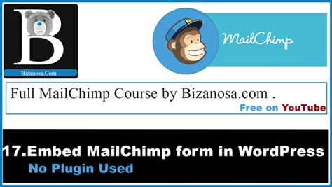 Mailchimp Embed Signup Form by 17 Embed Signup Form On No Plugin Bizanosa