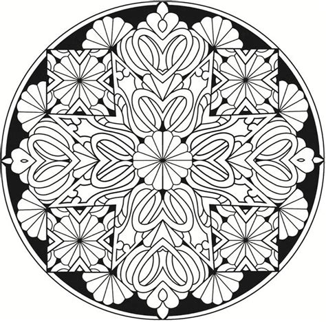 creative haven kaleidoscope designs stained glass coloring