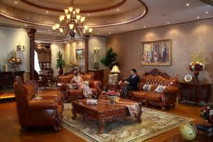 oak livingroom furniture aliexpress com buy luxury oak solid wood leather sofas living room furniture sets