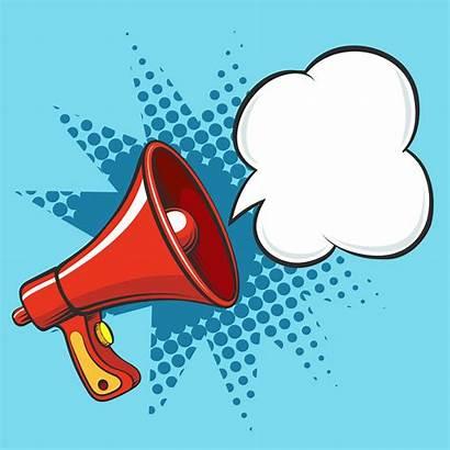 Speaker Cartoon Loud Megaphone Loudspeaker Retro Announce
