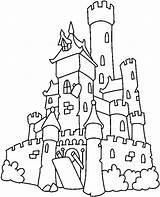 Medieval Castles Drawing Castle Coloring Getdrawings sketch template