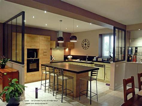 cuisine ouverte ou ferm馥 beautiful maison cuisine ouverte verriere images amazing house design getfitamerica us