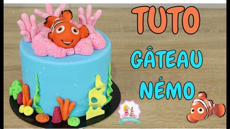 gateau cake design nemo tutoriel decoration pate  sucre