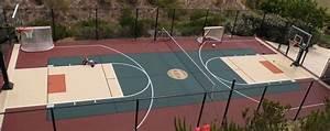 Multi-purpose court! Basketball, tennis, volleyball ...