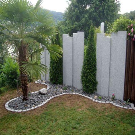 sichtschutz aus stein elemente granit sichtschutz und zaun element hellgrau 10 x 100 cm