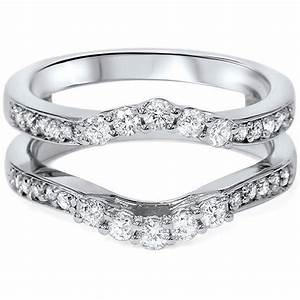 diamond ring insert 55ct engagement wedding guard band With wedding band inserts engagement ring