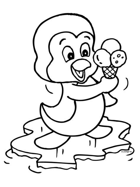 Pingwing Kleurplaat kleurplaat pingu 239 n met een heerlijk ijsje kleurplaten nl