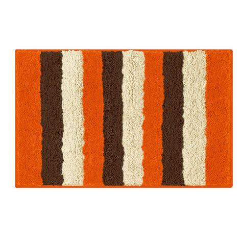 bathtopia radella orange 18 in x 30 in bath rug