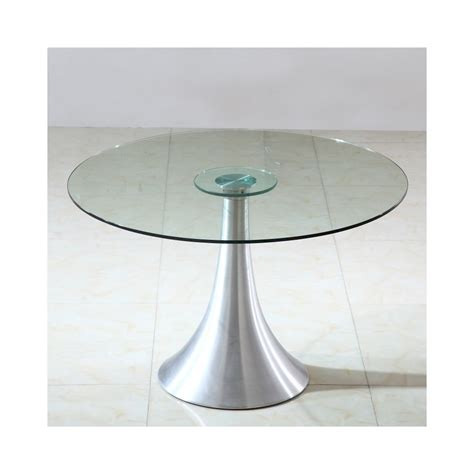 table ronde pied central inox images