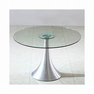 Table Ronde En Verre Pied Central : table en verre ronde pied central extensible center 4 pieds tables chais table verre pied ~ Teatrodelosmanantiales.com Idées de Décoration