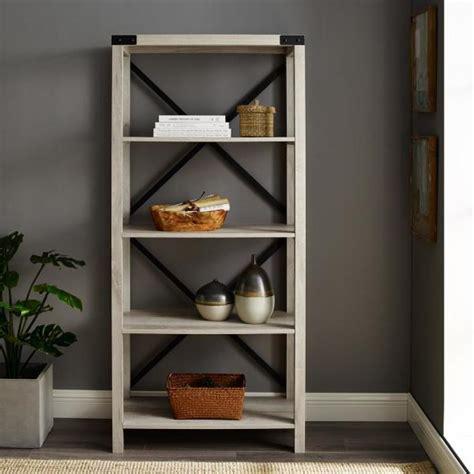 The Bookcase Company by Walker Edison Furniture Company 64 In White Oak Farmhouse