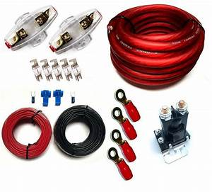 Dual Battery Charge Isolator Pl   Wiring Kit   Fuses And
