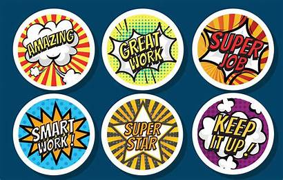 Stickers Teacher Vector Award Pack Clipart Resources
