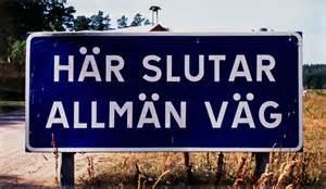 Allmän väg skylt