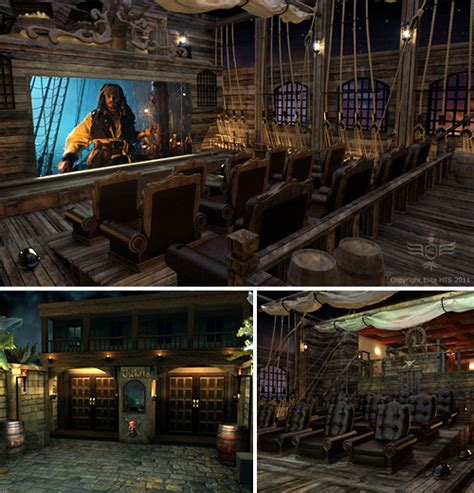 Impressive Pirates Themed Home Theater  If You Can Think