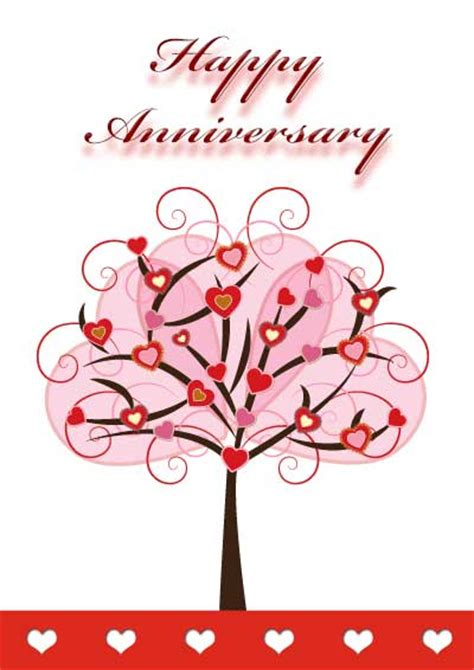 romantic printable anniversary card templates