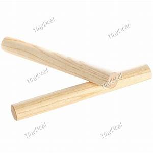 495 2 X Percussion Instrument Wood Stick Fms 124883