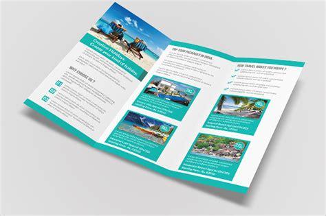 travel brochure template  fold  travel brochure