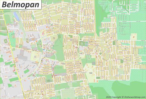 belmopan maps belize maps  belmopan