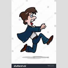 Illustration Young Businessman Running Away Someone Stock Illustration 107868089 Shutterstock