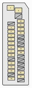 Toyota Prius  Xw20  2004 - 2007  - Fuse Box Diagram