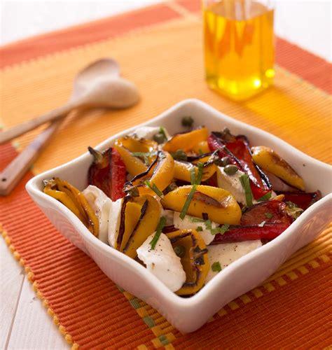 poivrons grillés et mozzarella en salade les meilleures recettes de cuisine d 39 ôdélices