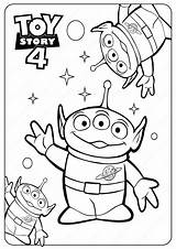 Coloring Toy Story Printable Aliens Disney Pdf Pixar Toystory Forky Sheets Peep Bo Printables Coloriage Children Alien Gabby Club Cartoon sketch template
