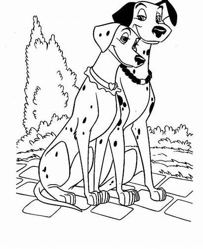 Coloring Pages Dog Couple Dalmatians Dalmatian Printable