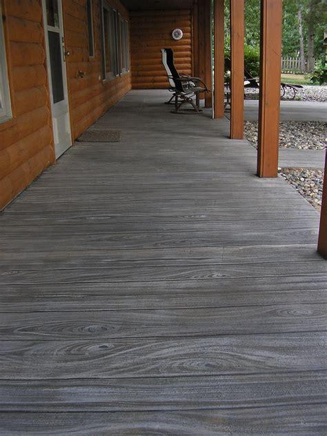 faux wood finish  concrete patio faux finish painted