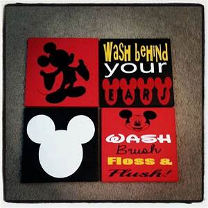 best 25 mickey mouse bathroom ideas on pinterest mickey With best brand of paint for kitchen cabinets with diy minnie mouse wall art