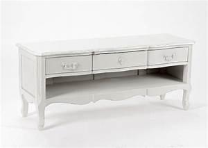 Tv 190 Cm Pas Cher : meuble tv bois blanc pas cher meuble tv 110 cm bois ~ Teatrodelosmanantiales.com Idées de Décoration