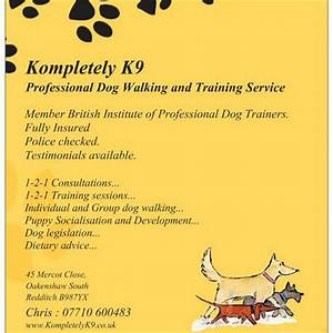 Kompletely k9 dog walking training alcester for Professional dog walking service