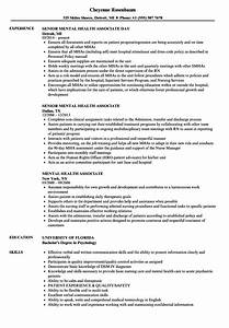 Mental Health Associate Resume Samples Velvet Jobs