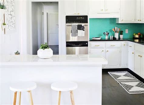 teal kitchen white cabinets teal and white kitchen ideas quicua
