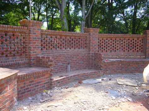 Mortar Mix For Fireplace by Pierced Brick Walls A Classic Screen Alternative The