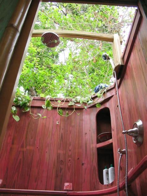 A Beautiful Outdoor Shower  Rustic Outdoor Bathshower
