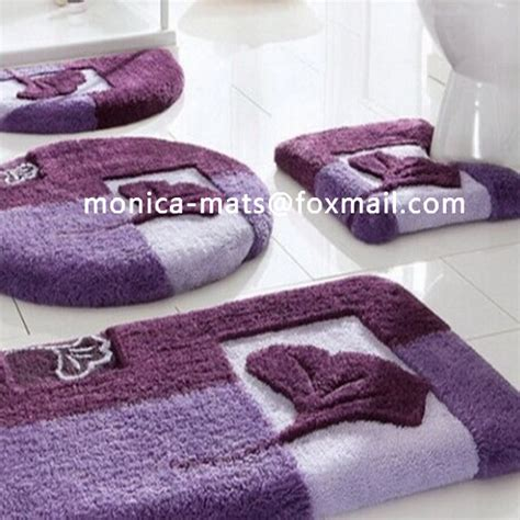 Super Soft Shining Chenille Colorful Anti slip Washable 5 Piece Bath Rug Set Buy High Quality