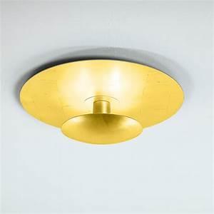 Lampe Indirektes Licht : deckenleuchte blattgold deckenlampe leuchte lampe gold ~ Michelbontemps.com Haus und Dekorationen