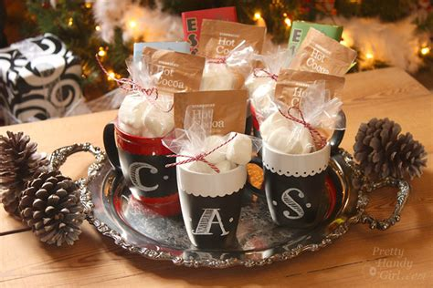 chalkboard painted mugs homemade holiday inspiration