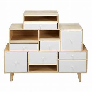 Cabinet Maison Du Monde : white paulownia 8 drawer destructured cabinet maisons du monde ~ Teatrodelosmanantiales.com Idées de Décoration